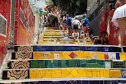 Escadaria Selarón, Rua Manuel Carneiro, Santa Teresa, Rio de Janeiro