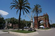 Parc de la Ciutadella, Passeig de Picasso, Barcelona, Spain