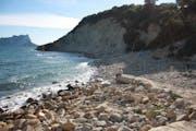 Moraira: Cliffs between Moraira and Calpe